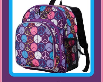 Personalized Backpack - Peace - Monogrammed