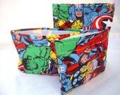 Avengers Reusable Bags - Sandwich Reusable Bag - Reusable Snack Bag Set