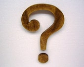 Question Mark Wood Sign Wall Sign