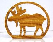 Moose Cabin Sign Shelf Sign Wood trivet