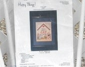 Counted Cross Stitch Kit Cat Saying by Happy Things