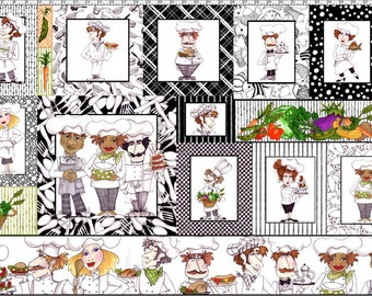 Chefs Fabric Panel  by Loralie Designs