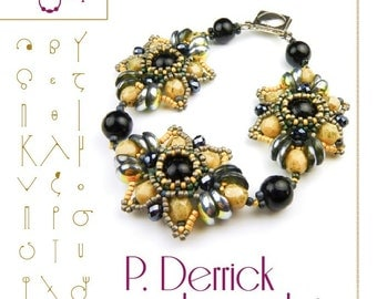 Beading tutorial Bracelet tutorial / pattern P. Derrick with Piggy beads..PDF instruction for personal use only