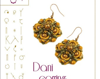 beading pattern  earring tutorial / pattern Dani earring..PDF instruction for personal use only