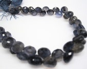 Iolite Briolettes, Iolite Beads,  Onion Briolettes, 7 to 8mm, Faceted Onion Drops, Midnight Blue, Weddings, Brides, Loveofjewelry, SKU 3499