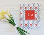 Circles Spiral Bound Personalized Notebook