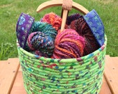 Colorful Cauldron - Wildflower Garden (Coiled Rope Basket)