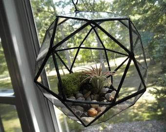 Round Hanging Glass Terrarium