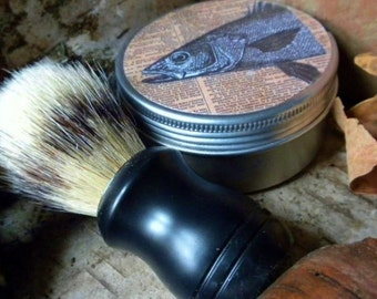 Rustic and Masculine  SHAVING SOAP Kits For Men  Your choice of Wood, Tobacco, Sandalwood, Lime, Peppermint, Scotch Whiskey or Bayrum...