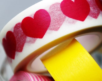 Washi Tape / Love Hearts / 10m x 1.5cm