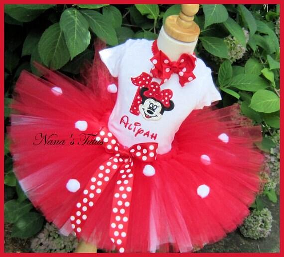 Decoracion Minnie Roja ~ Minnie roja con n?mero, traje de fiesta, fiesta tem?tica, tut?