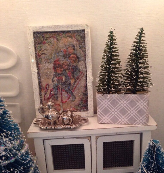 Miniature Christmas Picture-dollhouse Miniature