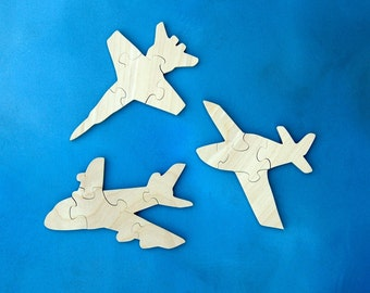 Airplane Party Favor Airplane Party Childrens Puzzle Airplane Puzzle Airlane Birthday Kids Wood Puzzle Plane Party Plane Puzzle Set of 9