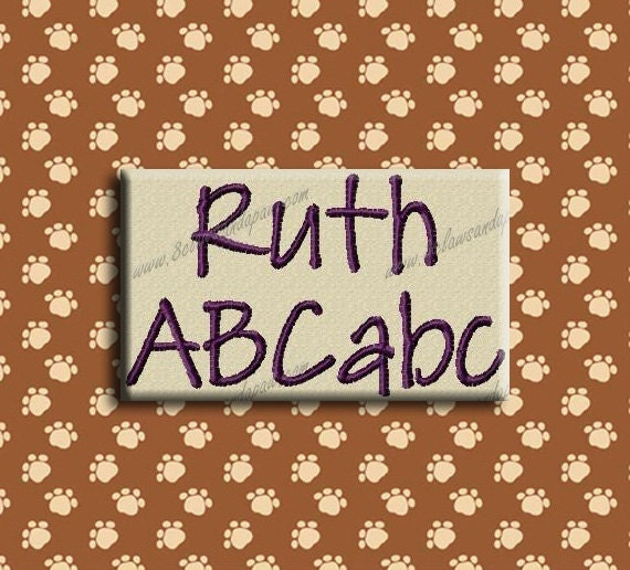 Ruth Embroidery Font In 3 Sizes