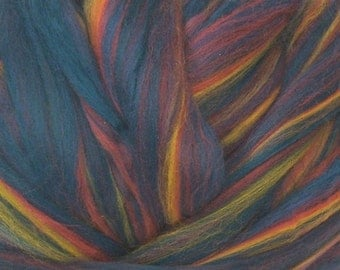 Dyed Merino/ Borealis/ Roving/ Combed Top/ 8 oz/ Fine Merino Wool/ Felting/ Needle Felting/ Alba Ranch/ Wet Felt/ Spinning Top/ Wool Roving/