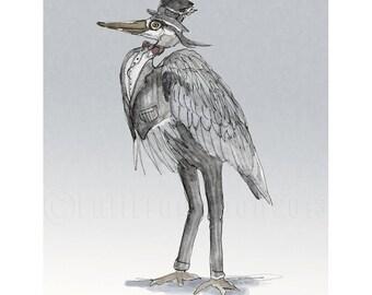 A Very Important Bird Print