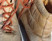 Vintage St. Moritz Italienisch Wandern Stiefel Stomper Rucksack Camping Schnee Made In Italy