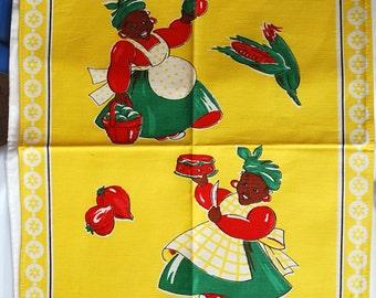 Vintage Black Americana Cook Towel