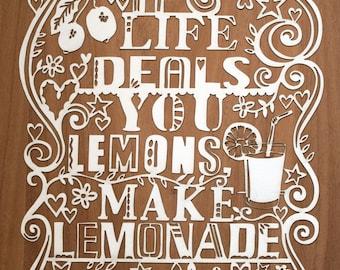 Lasercut. If Life Deals You Lemons Make Lemonade