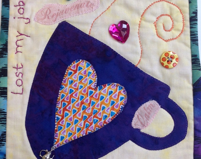 Time For Tea Number 3 small art quilt
