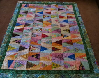Compass Points Modern Floral Quilt