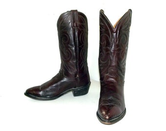 Western style cowboy boots Acme brand size 8.5 EW or cowgirl size 10 wide