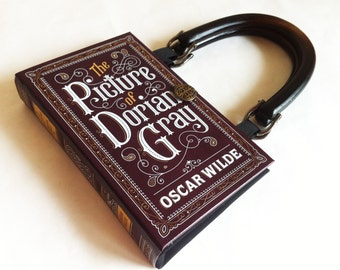 Oscar Wilde Book Purse - The Picture of Dorian Gray Book Purse or Dorian Gray Book Clutch - Irish Literary Gift