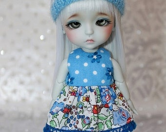 SALE - LATI Yellow PukiFee - Hello Kitty Series - Roses - DRESS - Royal and Sky Blues