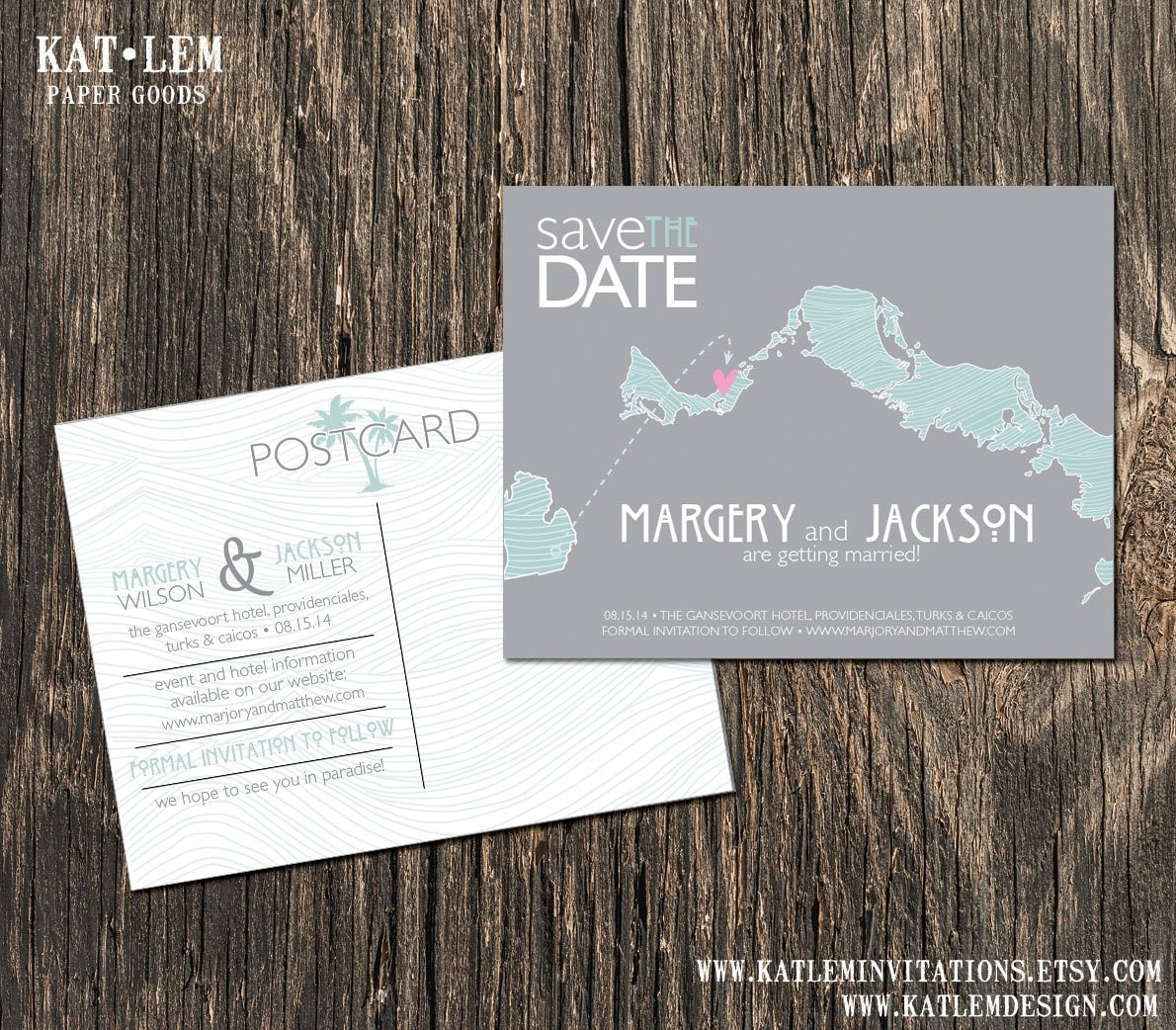 Turks and Caicos Beach Save the Dates Destination Wedding – Destination Wedding Save the Date Magnets