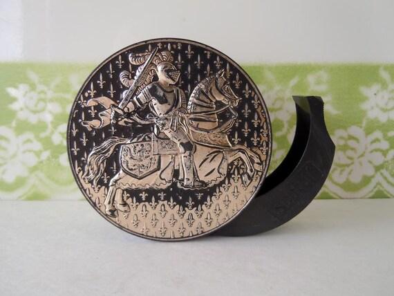 SALE Get 30% Off Vintage Tape Dispenser Scotch 3M Medieval Knight Horse Armory Renaissance