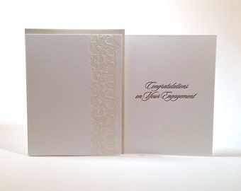 Congratulations on Your Engagement-- letterpress card