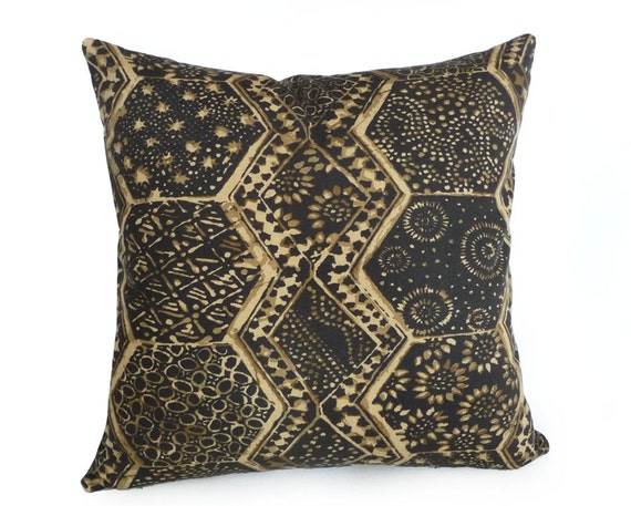 Black Tribal Throw Pillow : Tribal Pillow Primitive Throw Pillows CYBER by ...