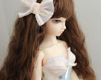 Doll Hair Accessory Hair Bow Clip Pink and Lace BJD Ball Joint Doll American Girl Doll Blythe Pullip