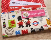 London Theme Mini Snap Wallet