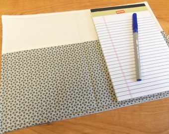 List Taker, Organizer, Coupon Holder,  Hope Valley in Grey by Denyse Schmidt, Notepad And Pen/Pencil Included