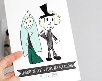 Custom Wedding Invitation (a5 or a6 print-ready PDF)