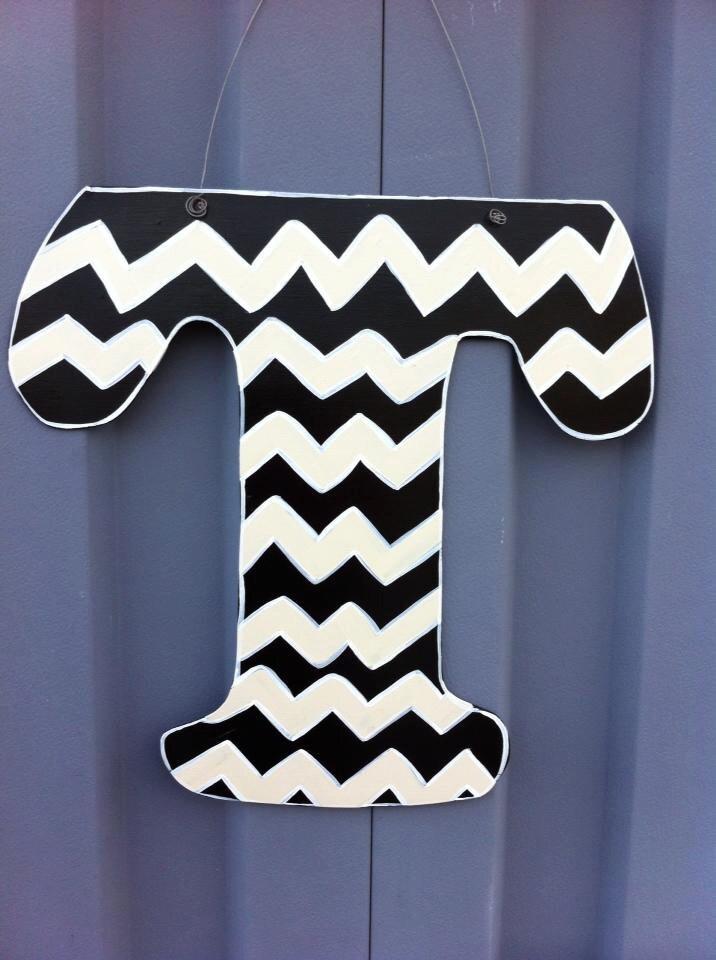 Letter t initial t door hanger decor for Letter t decoration