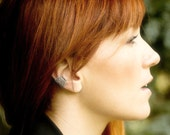 Silver Filigree Ear Cuff, Silver Ear Cuff, Steampunk Ear Cuff, Gothic Jewelry, Fantasy Jewelry, Silver Earcuff, No Piercing, Elf, EC-SWS01