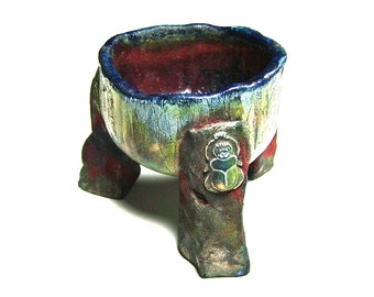 Ceremic Ceremonial Raku Bowl