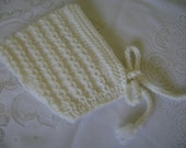KNITTED   Baby  Hat. Baby  Pixie. Unisex Baby   Beanie. Warm Baby  Bonnet. 3 to 6 Months  Acrylic Yarn