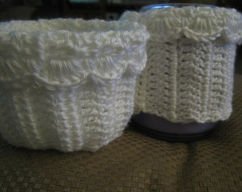 Boot Cuffs Boot Socks Leg Warmers Boot Toppers Hand Crocheted White