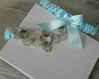 Something Blue Garter-Wedding Garter Set,Light Blue Bridal Garter,Something Blue
