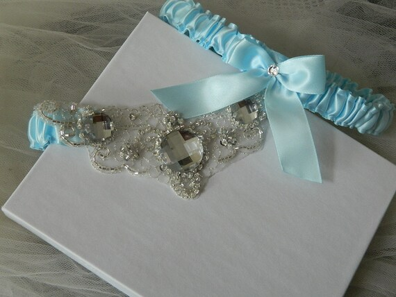 Something Blue Garter-Wedding Garter Set,Light Blue Bridal Garter,Something Blue