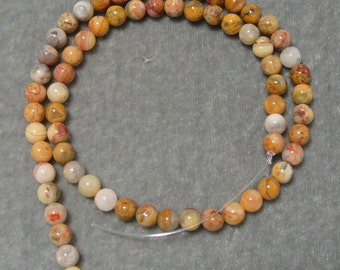 Full Strand of 6mm Old Crazy Lace Agate Gemstones (53)