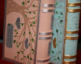 Wedding Ring Bearer  BOX,Personalized book box for your wedding ring in your wedding color .