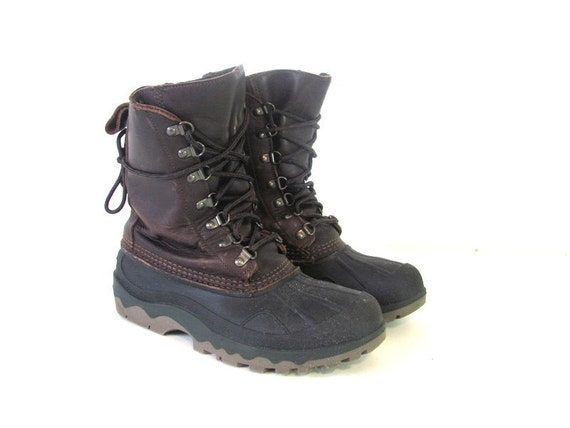 Excellent Vintage LL Bean Winter Boots In Gravel Grey By RabbitHouseVintage