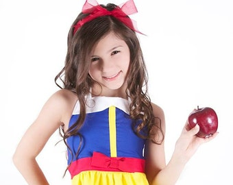 Sale - Disney Inspired Snow White Halter Dress for Girls - Ready to Ship size 5