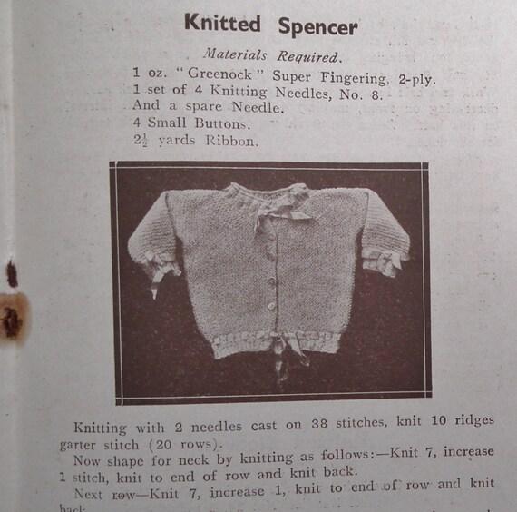 Vintage Baby Knitting Pattern Books : Vintage Antique Baby Knitting Patterns Book Crochet 1920s ...
