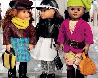 DOLL CLOTHES PATTERN / Mix and Match Outfits for American Girl and 18 Inch Dolls