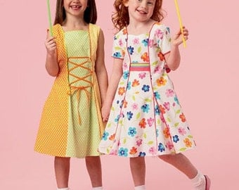 GIRLS CLOTHES PATTERN / Summer Dresses - Clothes / Sizes 2 to 5 Or 6 to 8